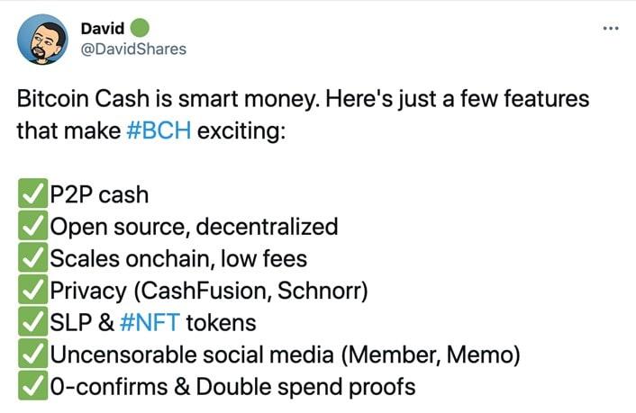 Tweet by DavidShares